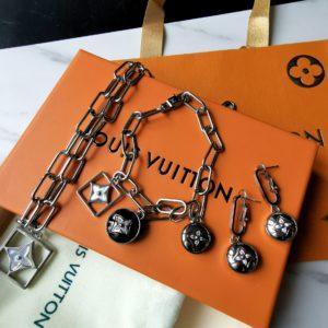 Комплект (кулон, браслет, серьги) Louis Vuitton LV Луи Виттон